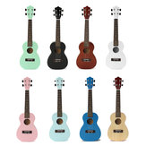 23 polegadas Ukulele Concert Guitar Rosewood Colorful Hawaii Acoustic Com Bolsa
