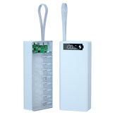 C16-PD Power Bank Shell rimovibile a 16 sezioni Mobile PowerBank Kit di montaggio Fai da te18650 Batteria Scatola 5V-3A 9V-2A 12V-1.5A Ricarica rapida