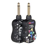 B9 Wireless Guitar System Built-in Rechargeable 4 Channels Wireless Guitar Transmitter Receiver for Electric Guitar Bass