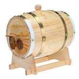 1.5/3L Wood Barrel Oak Brewing Vintage Keg Wines Whiskey Home Storage Holder