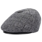 Men Warm Gird With Earflap Beret Cap Vintage Gentleman Sport Cabbie Hat
