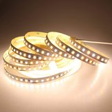 DC12V 5M 72W SMD2835 CCT Non-waterproof Warm White + Pure White Dual Color Flexible 600LED tira de luz