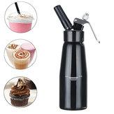 500ml Black Cream Butter Foam Whipper Coffee Dessert Cake Batter Dispenser Maker with Brush Nozzle