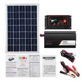 12 V / 24 V DIY Kit Sistema Solar Soalr Controlador de Carga 18 V 20 W Painel Solar 1000 W Inversor Solar Kit de Geração de Energia Solar