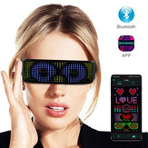 APP Contro LED Shinning Glasses USB Rechargeable Full Color Wireless Music Dynamic Patterns Unisex Glowing Luminous Glasses Untuk Party Bar