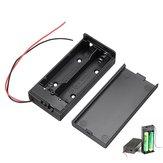 10 sztuk 18650 Battery Box Uchwyt Akumulator Płyta z Przełącznikiem do 2x18650 Baterii DIY kit Case