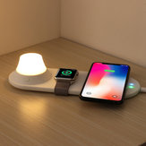 3 in 1 Qi Wireless Charger Fast Charging Phone Charger + Tablet LED Lamp + Watch Charger For Qi-enabled Smart Phone Smart Watch Apple Watch