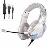 Bakeey J10 casque de jeu filaire écouteurs casque supra-auriculaire casque stéréo basse profonde avec Microphone pour PS4 PS5 pour xbox