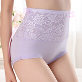 Hip Up High Waist Jacquard Underwear Seamless Briefs