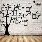 2.5m imagem da árvore de memória removível quadros wallpaper foto adesivos de parede decoração pássaro parede da sala de preto