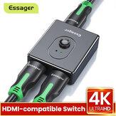 Essager HDMI-compatível Splitter 4K 1x2 / 2x1 Switch Bi-Direction Adapter 2 em 1 Out 2.0 Comutador compatível com HDMI para HD TV BOX