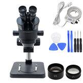 Simul Focal industriel trinoculaire Microscope stéréo grossissement Zoom continu 3.5-90X pour la soudure de réparation de carte PCB de téléphone