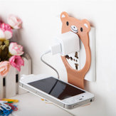 Universal Foldable Cable Organized Management Charging Wall Mount Holder for iPhone Xiaomi Mobile Phone Non-original