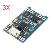 3Pcs USB Lithium Battery Charger Module With Charging And Protection