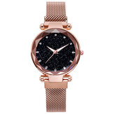 Deffrun Milan Strap Fashion Starry Sky Magnetic Ladies Watch Starry Sky Watch Female Quartz Watch