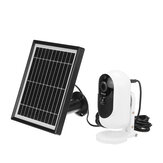 1080P Security Wifi IP Camera Rechargeable Battery + Solar Panel Power Charging