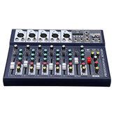 7 canaux DJ Audio Mixer bluetooth USB effet de réverbération Console de mixage amplificateur pour Tiktok Youtube Live Broadcast Studio karaoké DJ