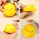 Squishy Yellow Duck Soft Śliczny Kawaii Pasek do torby na telefon Zabawka Prezent 7 * 6,5 * 4 cm