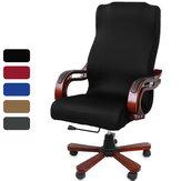 Élastique velours housse de chaise de bureau tissu ordinateur chaise rotative protecteur extensible fauteuil siège housse de bureau à domicile meubles décoration
