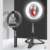 Bakeey L07 بلوتوث Selfie Ring Fill ضوء Wireless مراقبة Dimmable الة تصوير هاتف Ring Lamp with Tripod Stand for Makeup فيديو Vlog Live