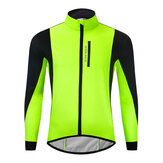 WOSAWE Radsportjacke Winter Thermal Fleece Warme MTB Rennradbekleidung Winddicht Wasserdicht Long Jersey Windbreaker