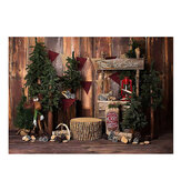 Christmas Photography Backdrops Christma Tree Wood Wall Background Cloth for Studio Photo Backdrop Prop