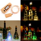 Battery Powered 80CM Cork Shaped LED Copper Wire Night Starry Wine Bottle HoliDay Light for Xmas