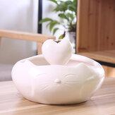 Cat Oreja Diseño 2500ml Dispensador automático de agua circulante de porcelana Tazón para mascotas Agua Fuente linda Suministros para beber para mascotas con bomba de reducción de ruido