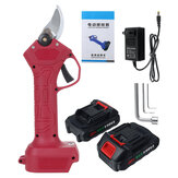 21V Cordless Rechargeable Electric Pruning Shears Garden Scissor Hedge Trimmer w/ 1pc OR 2pcs Battery
