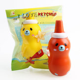 Sanqi Elan ketchup Squishy 14*5.5CM Licensed Slow Rising With Packaging Collection Gift Soft Toy
