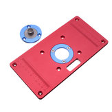 233x117x8mm Tabla de enrutador de aluminio Insertar Placa para bancos de carpintería RT0700C Router Trimmer Red
