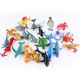 24 STÜCKE Kunststoff Ozean Tiere Abbildung Sea Dolphin Turtle Creatures Modell Spielzeug Geschenk