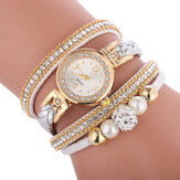 Mode cercle bracelet diamant cadran simple dames robe femmes montre à quartz