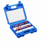 15Pcs Router Bits Set 1/4 Inch Shank Tungsten Carbide Milling Cutter Tools Kit With Plastic Case for Wood Router Trimming Machine