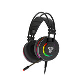 FANTECH HG23 Jogo Headphone 7.1 Som Surround RGB USB Baixo Com Fio Gaming Headset com Microfone para Computador PC PS4 Gamer