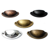 Retro Cupboard Cabinet Drawer Door Pull Handles Home Kitchen Furniture Half Moon Shell Handle