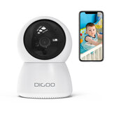 DIGOO DG-ZXC24 1080P Inteligentna kamera IP 2 megapiksele 355 ° PTZ Night Vision Detekcja ruchu Baby Home Security Monitor