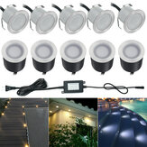10x 32MMLED Deck Stair Light Waterproof Quintal Garden Pathway Patio Landscape Lamp