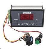 30A تيار منتظم 6 فولت 12 فولت 24 فولت 48 فولت PWM وحدة تحكم في سرعة المحرك LED رقمي عرض منظم جهد قابل للتعديل مع مفتاح مقياس الجهد