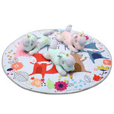 Kids Play Mat Crawling Blanket Soft Cotton Toys Storage Bag Picnic Mat Outdoor Home