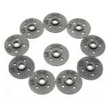 10pcs 1/2 Inch Malleable Iron Floor Flange Steel Iron Pipe Fitting Wall Mount