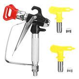 Spray Gun Gravity Feed SPRAY GUN Kit Regulator Paint Primer Metal Flake 1.9/1.7L