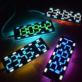 Geekcreit® DIY 6 Digit LED Large Screen Two-Color Digital Tube Desktop Clock Kit Touch Control