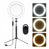 3-en-1 5-en-1 20CM LED Selfie Ring Light bluetooth Control remoto Live Removable trípode Soporte