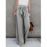 Wide Leg Casual Women Belt Loose Trouser Pants