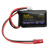 Tiger Power 7.4V 550mAh 60C 2S Lipo Battery JST Plug