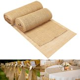 30/35cmx10m Hessian Jute Burlap Roll Vintage Table Runner Home Wedding Decorations