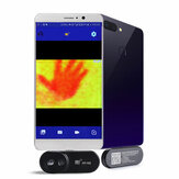 HT-102 HT-101 Mobile Phone Thermal Infrared Imager Support Video and Pictures Recording 20 ℃ ~300 ℃ Temperature Test ℃/℉ Face Detection Imaging Camera For Android