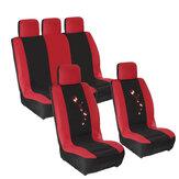 9PCS Universal Coche Fundas de asiento completo Protector Cojín Color Mariposa Delantero trasero Camión SUV Van