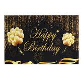 Alles Gute zum Geburtstag Fotografie Hintergrund Party Ballon Feuerwerk Foto Hintergrund Stoff Dekoration Requisiten